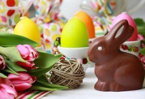Пасха, яйца, шоколадный заяц, праздник
