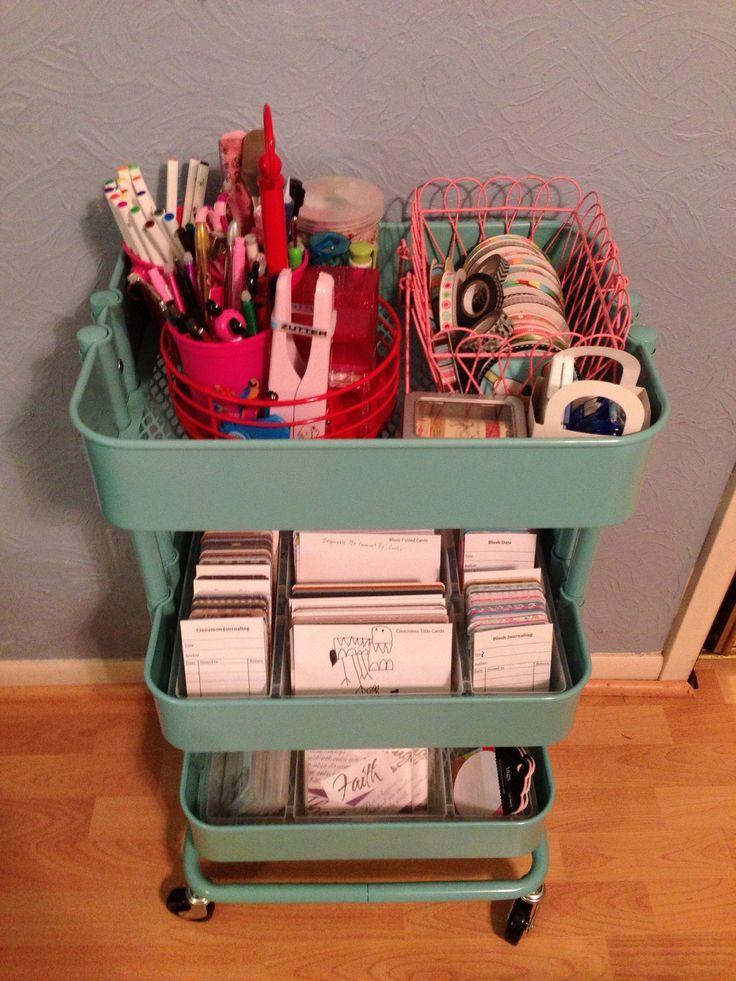 raskog project life | Ikea Raskog cart to organize Project Life | crafts