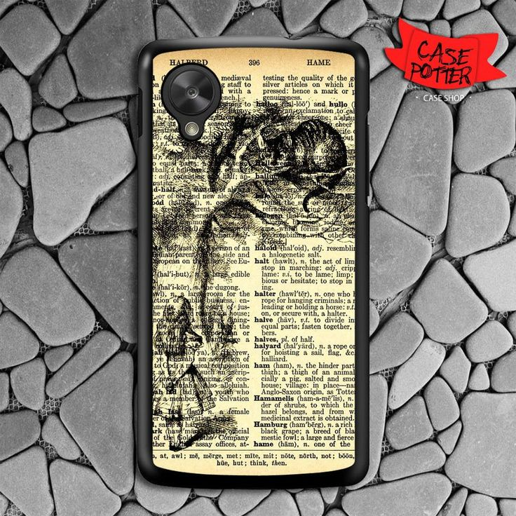 Dictionary Chesire Cat Nexus 5 Black Case