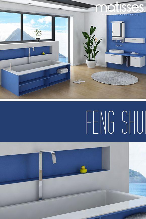 El #FengShui recomienda pintar el baño con el color azul, para reflejar calma en esta estancia.