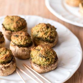 Pesto Stuffed Mushrooms [savorynothings]