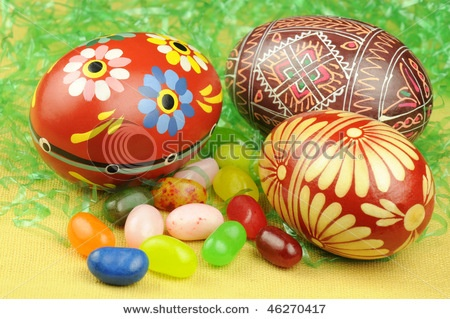 <3 Colorful hand-painted Easter Eggs