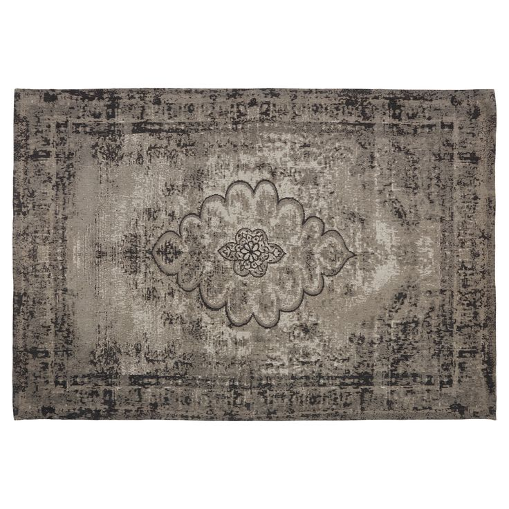Vloerkleed grijs met Oosters dessin. Slijtvast, ademend en makkelijk in onderhoud. Voorzien van een care & fair label. 230x160 cm (lxb). #kwantum #vloerkleed