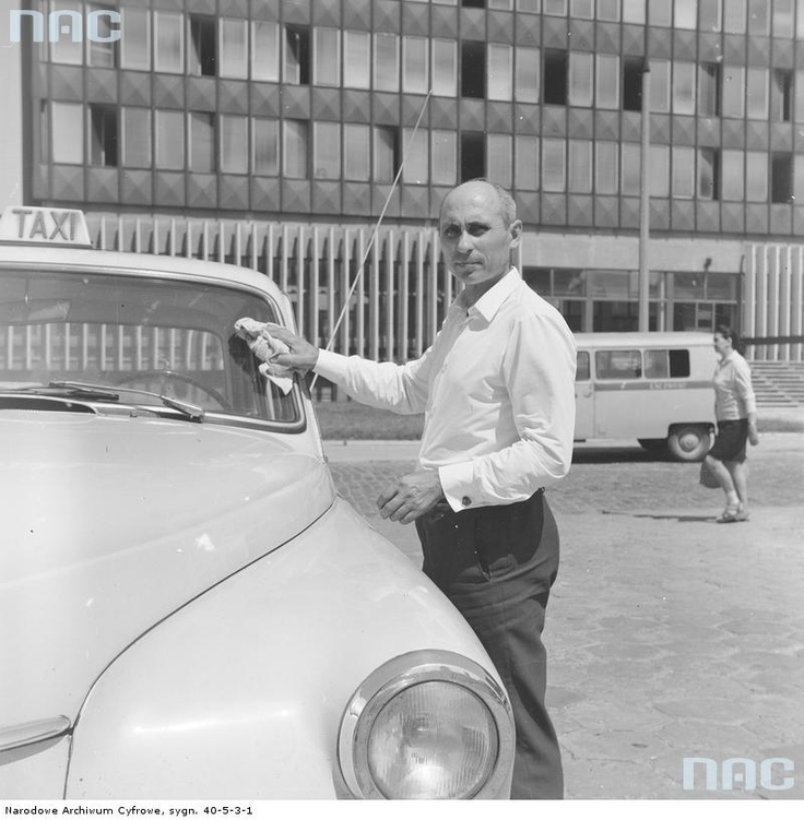 Warsaw, taxi driver, 1968-82.