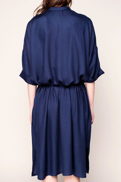 Vestido camisa - lix119 - Azul / Marina de guerra 3