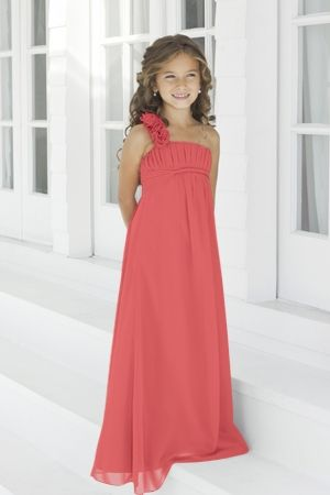 Junior Bridesmaid Dresses, Flower Girl, Special Occasion Dresses by Alexia Designs in Coral