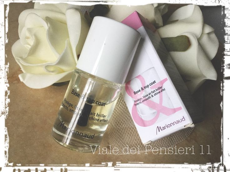 Base & Top Coat Marionnaud: unghie protette, smalto brillante