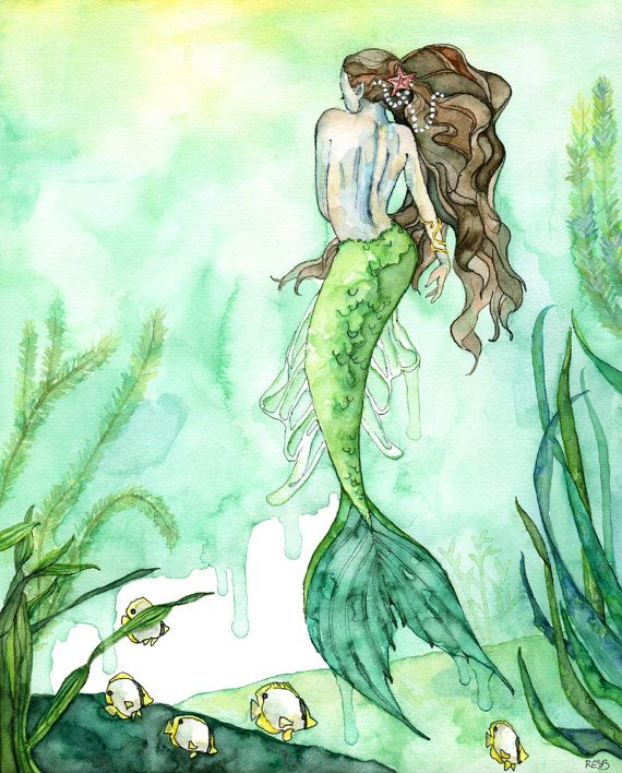 best 25 watercolor mermaid ideas on pinterest mermaid