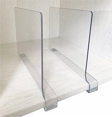 4PCS Multifunction Acrylic Shelf Dividers,Closets Shelf And Closet separator for