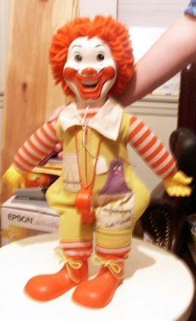 Ronald McDonald Doll 1978Happy 80S, 80S Memories
