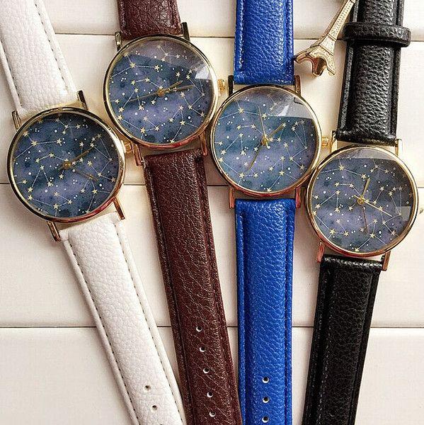 Konstellation Anker Uhr,Leder Uhr,unisex uhr von HebeSHE auf DaWanda.com