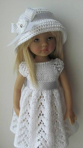 Hand Knit Doll Outfit Set for 13'' BJD Helen Kish Diana Effner