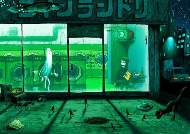 Concept Art Writing Prompt: The Laundromat of Horrors