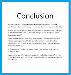 exemple de conclusion d'un mémoire de fin d'études, conclusion d'un memoire, exemple conclu ...