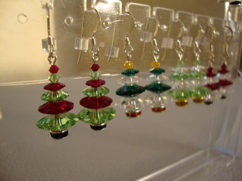 Craft Ideas For Adults To Sell Crafted Christmas Earrings