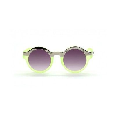 Alessandra Ambrosio style. Quay Eyeware -OH_MI Sunglasses, Neon Green. View this product here http://wheresthatstyle.com/products/12378-quay-eyeware-oh_mi-sunglasses-neon-green