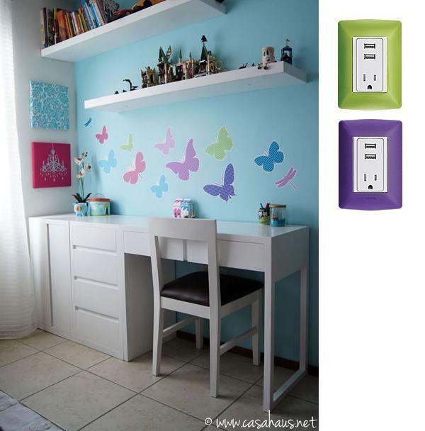 18 mejores im genes sobre escritorios para ni as en for Dormitorios juveniles con escritorio incorporado
