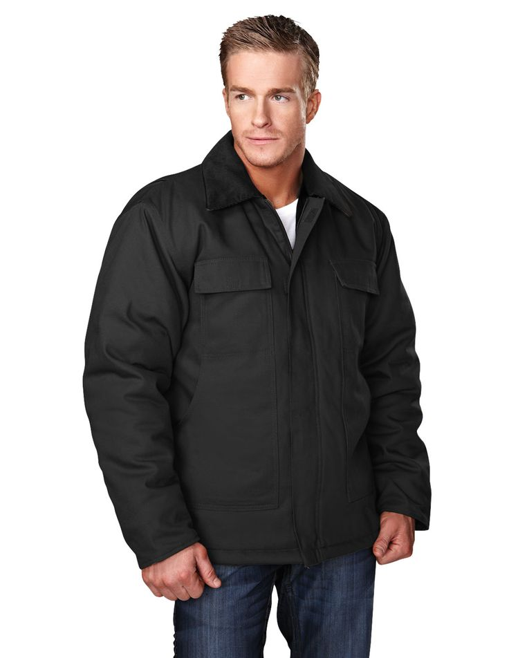Cotton Canvas Work Polyfill Quilted Lining Jacket. Tri mountain 4900 #bachlor #feelgood   #Jacket #winterwear