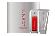 Fcuk Connect Perfume by French Connection contains top notes of bergamot, muguet and water iris, middle notes ofbarrigtonia flower, jasmine, peony and violet and bottom notes of golden amber musk, sandalwood and cedarwood. Recommended for anytime wear.