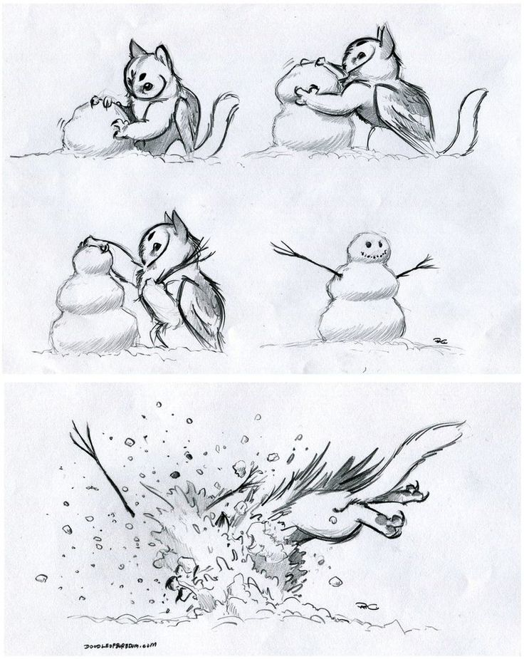 Owl Griffin by RobtheDoodler ; totally something I would do in the winter