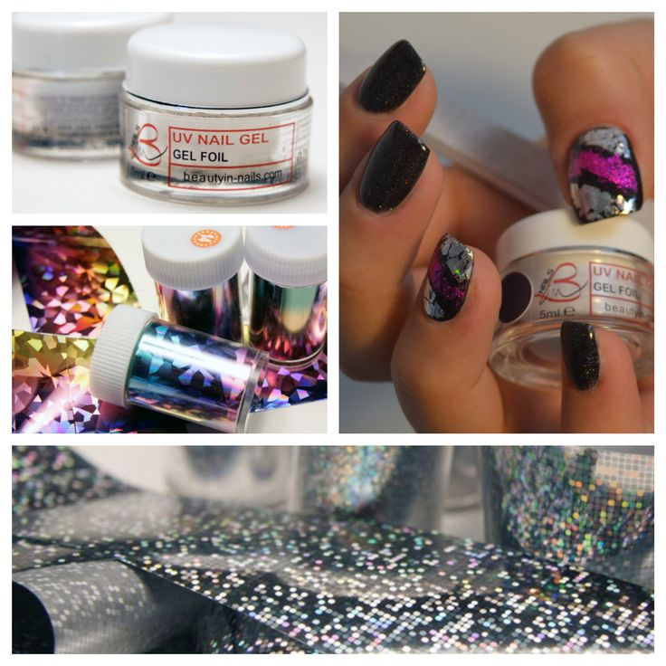 #Nail art, #foil gel, #foil transfer, #beautyinnails, http://www.beautyin-nails.com/product/foil-gel/