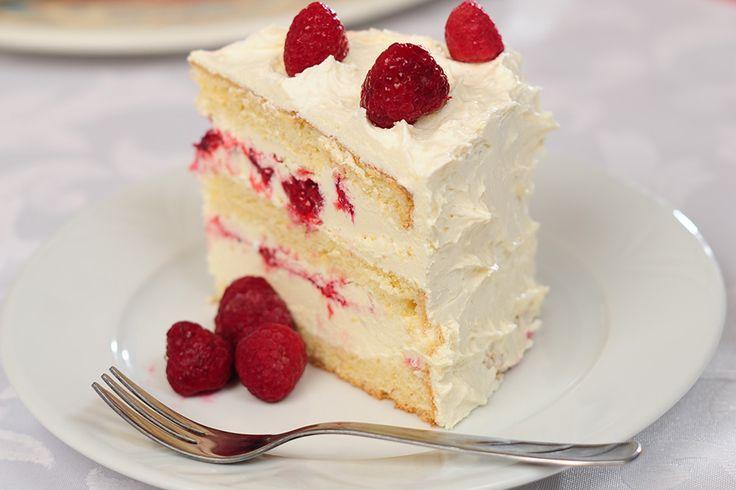 Málnás fehércsoki torta