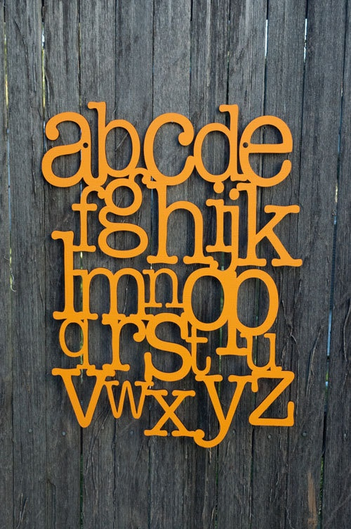 Navy nursery letters : Just bought this for the playroom in navy. so cute.: alphabet wall art ...