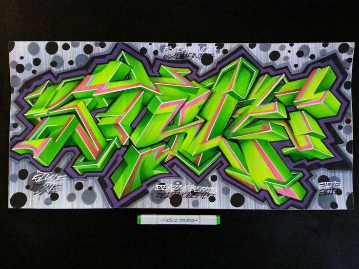 Giant handpainted graffiti sketch on stickerslap