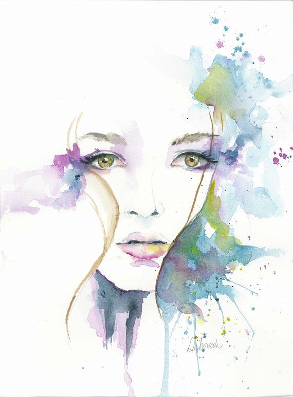 Watercolor Giclee print, boho, women gifts, gallery prints, Beautiful woman, watercolor, Art print,