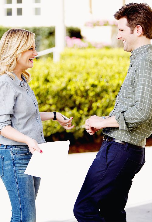 Leslie and Ben (Amy Poehler and Adam Scott) Parks and Rec