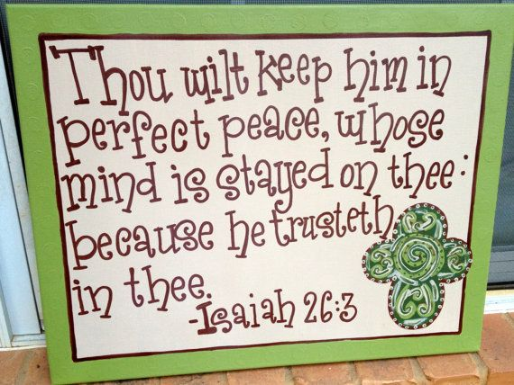 Isaiah 263 Cross Canvas by AudrieKateDesigns on Etsy, $35.00