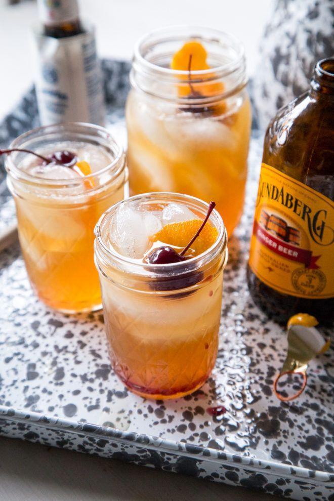 Bourbon Amaretto Coolers - Country Cleaver