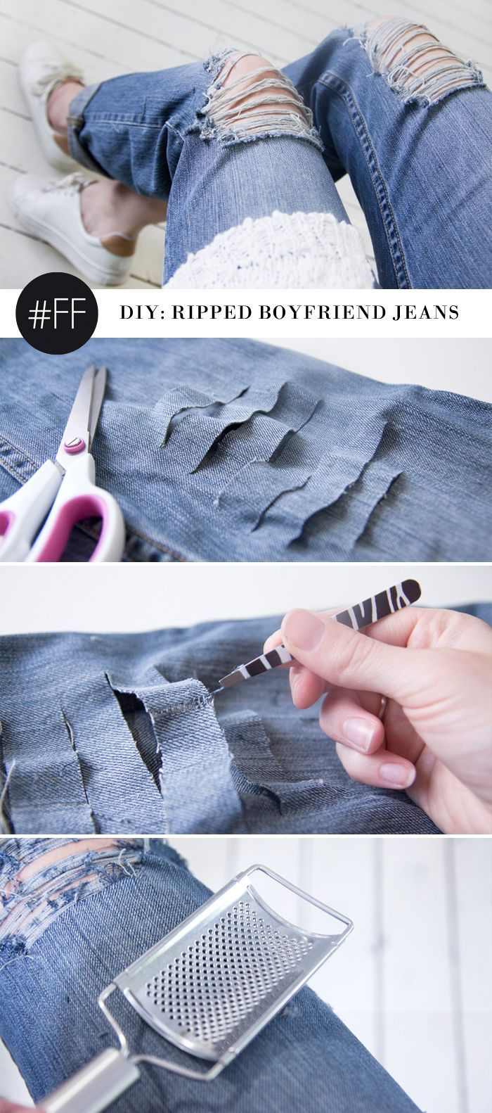 17 Best ideas about Diy Ripped Jeans on Pinterest | Diy distressed ...