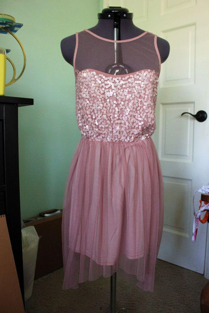Another photo of the blush pink high-low dress