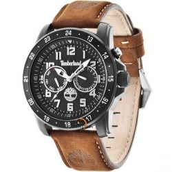 Timberland Bellamy Multifunction Brown Leather Strap T14109SB02