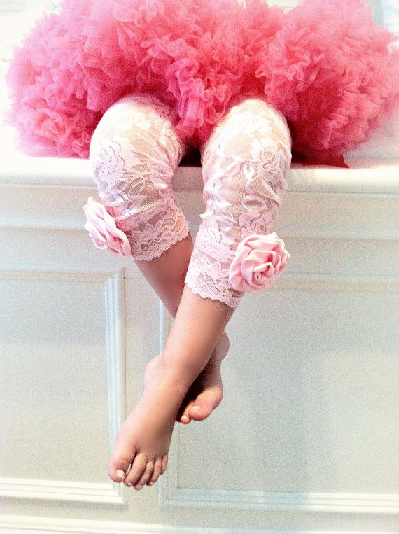 Girls Pink Lace Tights Leggings Ballet Rosettes Infant Toddler Baby Tights Little Girls Children Clothing- First Birthday- Holiday Tights