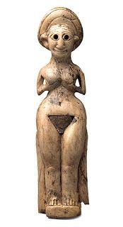 Fotoğraf: Fildişi figürin, kadın tanrıça, Kültepe, M.Ö. 1800-1700, Ankara Anadolu Medeniyetleri Müzesi Anatolia,ivory