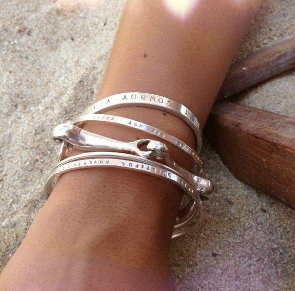 Ladies personalized signature bangle   Daniella Draper Handcrafted Bespoke Jewellery