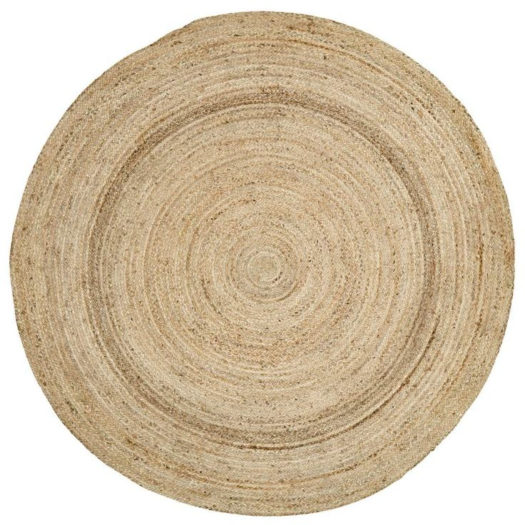 Harlow Round Braided Rug 6'    Measures: 6' in diameter  Colors: natural jute Made from 100% natural jute Spot clean or dry clean only  Finish off the welcoming look of your decor by adding thisHa