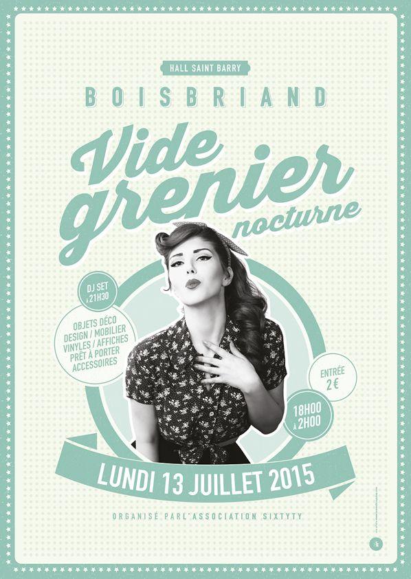 Affiche Brocante Vide-grenier - Le Moulin à Puces