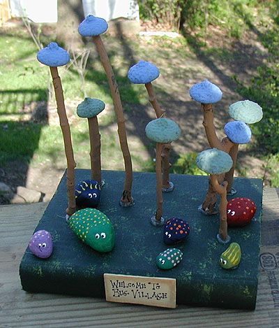 Bug Village - Crafts by Amanda. I imagine my kids would make their bugs, then make fairy houses for their bugs to live in.