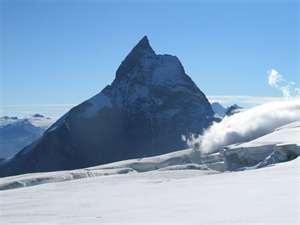 Matterhorn view from the glacier