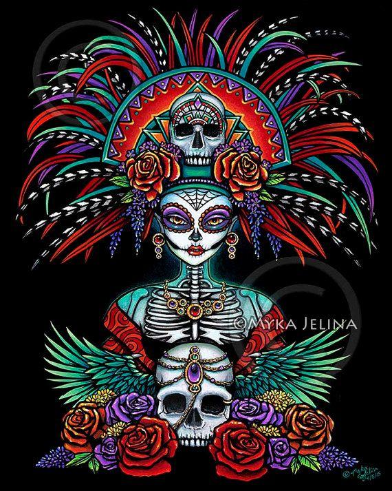 Bellos huesos firmaron imprimir Dia De Muertos Festival