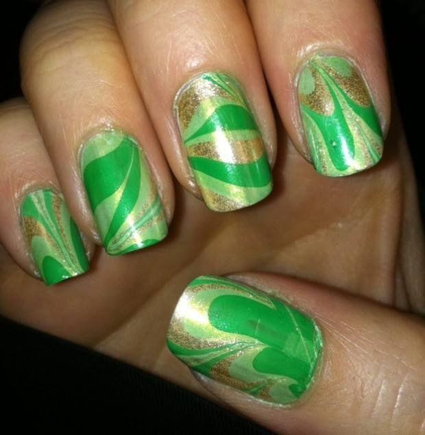 Mejores 30 imágenes de St. Patrick\'s Day Nail Designs en Pinterest ...
