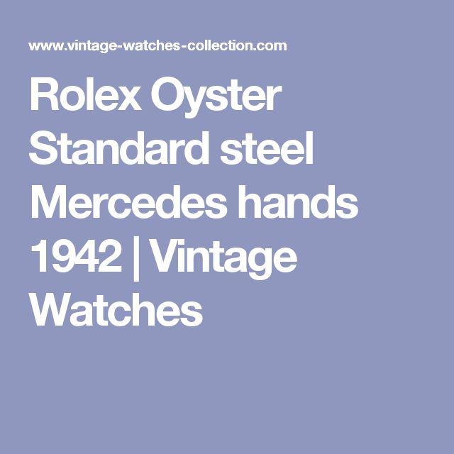 Rolex Oyster Standard steel Mercedes hands 1942   Vintage Watches