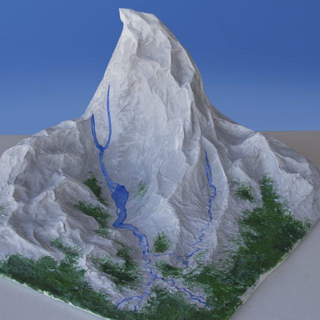 how to make a fake mountain for school project
