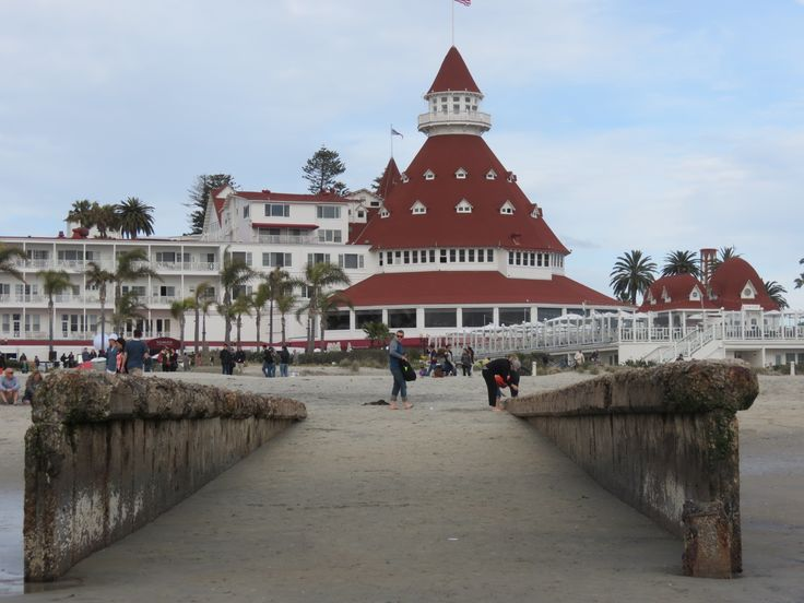 Across the bay from downtown San Diego is Coronado Island - an upscale community with shops, galleries, a gorgeous beach, and the famous Hotel Del Coronado!