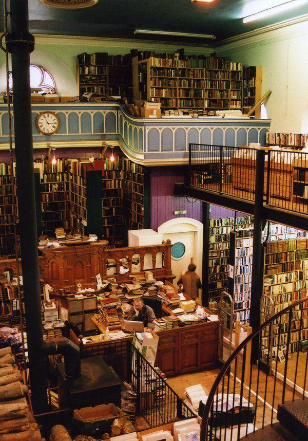 A used book shop in Inverness, Scotland