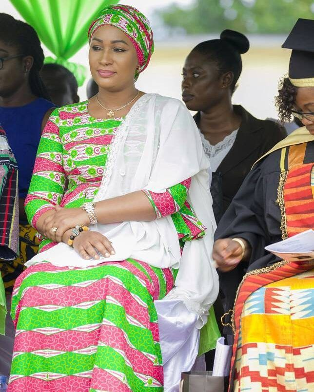 hair styles for 50 plus samira bawumia in print dress fashion 3016