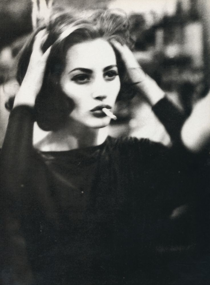 "Vogue Italia February 1990 ""Belladonna"" Model: Christy Turlington Photographer: Ellen von Unwerth"